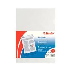 Buste a L Office Esselte - non perforate - A4 - 21x29,7 cm - goffrata - spessore medio - trasparente - conf. 25