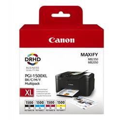 Originale Canon 9182B004 Conf. 4 cartucce inkjet blister MULTIPACK PGI-1500XL BK/C/M/Y