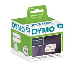 Etichette Dymo LabelWriter carta permanente - 54x101mm - bianco - S0722430