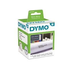 Etichette Dymo LabelWriter carta permanente - 89x36mm - bianco - S0722400