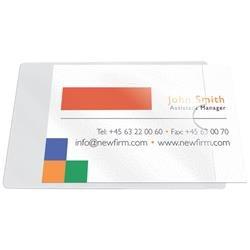 Tasche adesive portabiglietti Q-Connect - ppl - 60x95 mm - apertura lato corto - trasparente - conf. 10