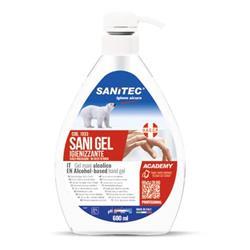 Gel igienizzante e disinfettante mani (alcol 70%) - Sanitec - 600 ml