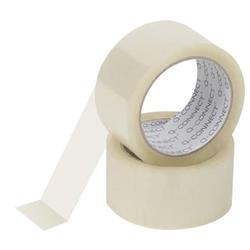 Nastro adesivo da imballo Q-Connect - 50mm x 66m - silenzioso - trasparente - conf. 6