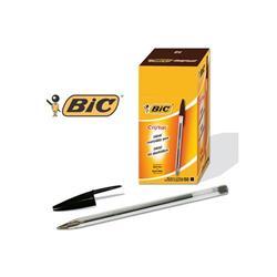 Penna a sfera BIC Cristal M 1 mm nero - conf. 50 - 8373639