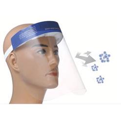 Visiera di protezione individuale in PET trasparente - lavabile e riutilizzabile - 32x22 cm