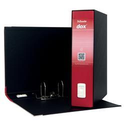 Registratore Dox 2 Esselte - protocollo - dorso 8 - 23x33 cm - rosso