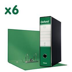 Registratori Oxford Esselte - protocollo - dorso 8 - 23x33 cm - verde - conf. 6