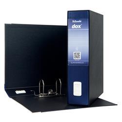 Registratore Dox 2 Esselte - protocollo - dorso 8 - 23x33 cm - blu
