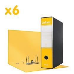 Registratori Oxford Esselte - protocollo - dorso 8 - 23x33 cm - giallo - conf. 6