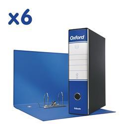 Registratori Oxford Esselte - protocollo - dorso 8 - 23x33 cm - blu - conf. 6