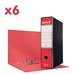 Registratori Oxford Esselte - protocollo - dorso 8 - 23x33 cm - rosso - conf. 6