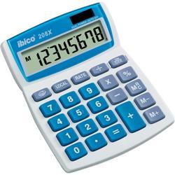 Calcolatrice da tavolo 208X Ibico - solare e batteria - 8 cifre