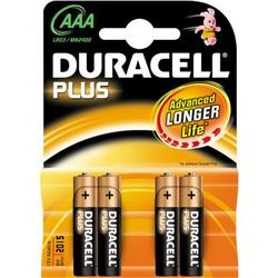 Pile Duracell Plus - ministilo AAA - conf. 4