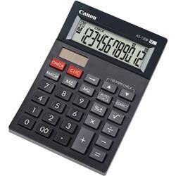 Calcolatrice da tavolo Canon AS-120 - solare e batteria - 12 cifre