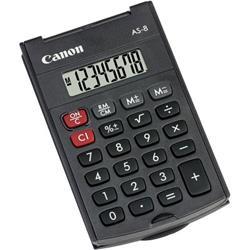 Calcolatrice tascabile Canon AS-8 - batteria - 8 cifre