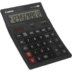 Calcolatrice da tavolo Canon AS-1200 - solare e batteria - 12 cifre