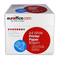 Carta A4 Euroffice - per stampanti e fotocopiatrici - bianca - 80g/mq - conf. 5