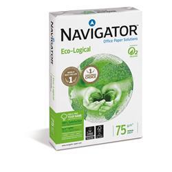 Carta A4 Navigator Eco-Logical - carta ecologica per ufficio - bianca - 75g/mq - conf. 5 risme